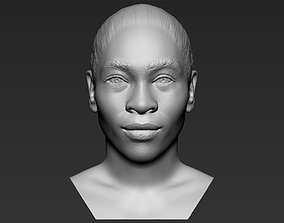 Serena Williams bust 3D printing ready stl obj formats