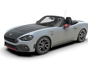 Fiat 124 Spider 3D model low-poly