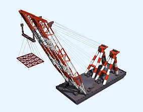 3D Floating crane3000t
