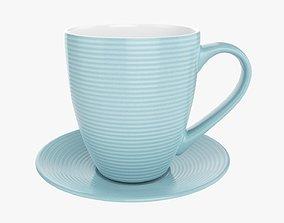 Coffee mug and saucer 01 3D model