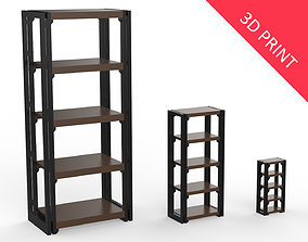 Bookcase Miniature with 3 Different Sizes 3D print model