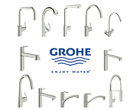 Collection of faucets Grohe 3D