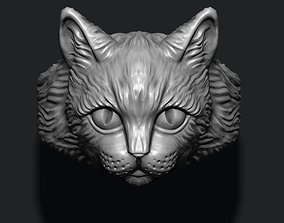leopard 3D printable model Cat ring