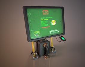 3D asset Sci-fi Cyberpunk Taxi order point terminal