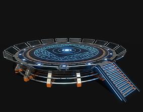 3D asset Lowpoly Scifi Helipad