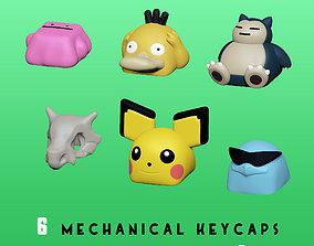 6 Keycaps for mechanical Keyboard - 3D print model 5
