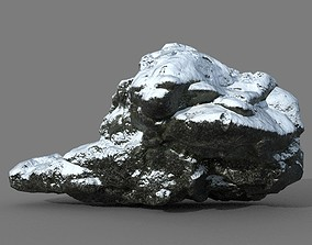 Low poly Snow Rock 14-190426 3D asset