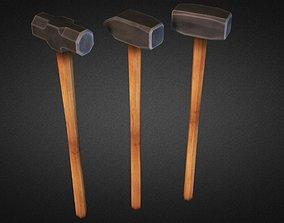 Sledgehammers 3D asset