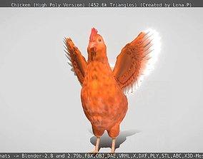 Chicken High-Poly Version 3D model