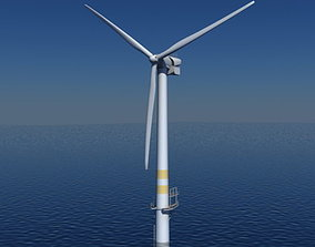 3D model Wind Turbine Offshore Realtime
