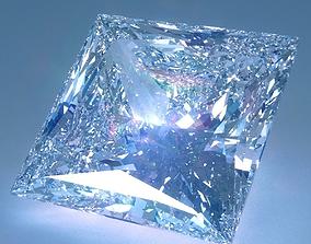 3D model Diamond Princess Cut