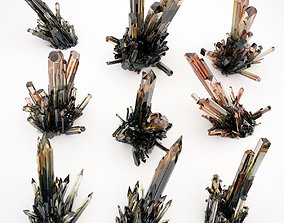 Crystal Quartz Mineral Pack 1 3D asset