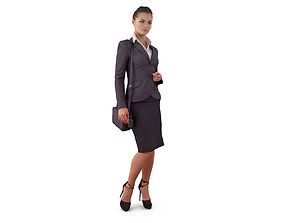 3D asset Attentive Business Woman