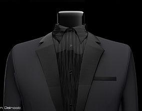 Mannequin suit with bowtie 3D
