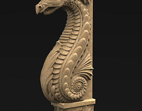 Corbel Decorative Dragon 3D print model
