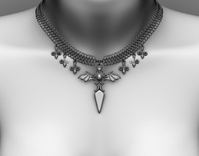 3D asset VR / AR ready Necklace