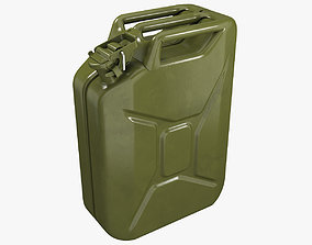 Gasoline canister green Jerry can 3D