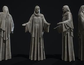 Nun statue 3D asset