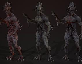 3D asset Drakonit monster low poly models