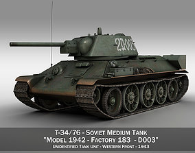 3D T-34-76 - Model 1942 - Soviet medium tank - D003