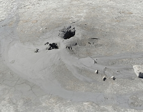 3D Mud Volcano from Romania RAW SCAN
