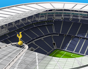 VR / AR ready New White Hart Lane 3d Stadium architecture