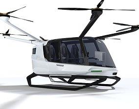 3D Hydrogen powered Air Taxi Alaka Skai with Interior