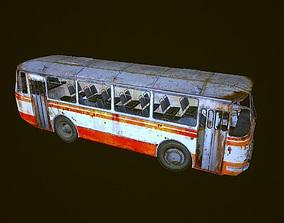 Old rusty city bus LAZ 695 low-polygon 3D VR / AR ready 1