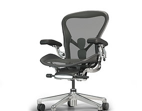 low-poly Herman Miller - Aeron office chair 3D Model