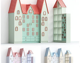 Children cabinets Part2 living-room 3D model