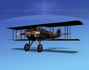 SPAD S-XIII 3D model rigged squadron