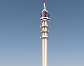 Baghdad Tower landmark in baghdad iraq 3D model