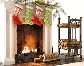 3D Fireplace fire