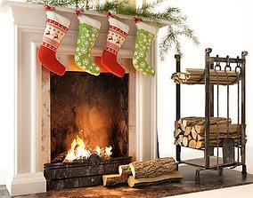 3D Fireplace fire