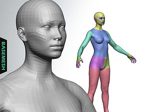 3D model Average Female Body Low Poly Basemesh