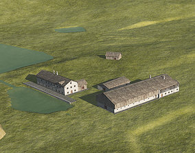 Historic Bavarian farmhouse 18th century 3D model