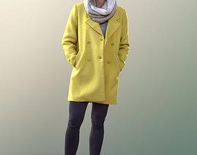 3D 10557 Bao - Asian Woman warm coat winter autumn