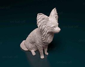 Papillon dog 3D printable model print