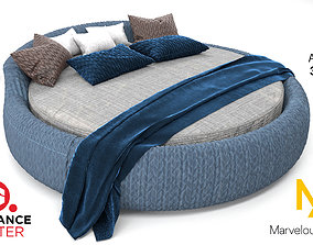 color Round Bed 3D model