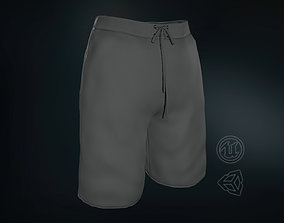 Gray Shorts 3D model low-poly