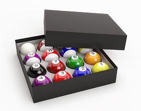 Pool Balls In Paper Box 3D