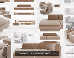 Stellar Works - Infinity Sofas Collection 3D model