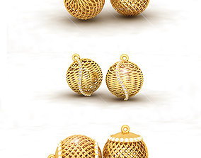 3D print model Ball Earrings