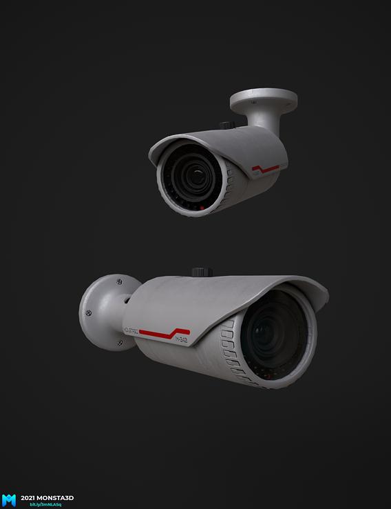 lowpoly pbr CCTV security camera