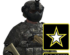 US Army Infantry with IOTV and FAST armor 3D model