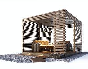 3D Loft style wooden arbor