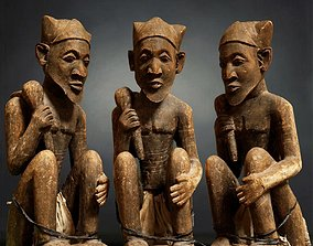 3D model Dogon Statue Wood Weathered