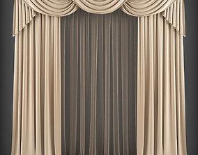 VR / AR ready Curtain 3D model 160