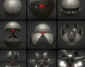 Sphere bot with Animations 3D asset