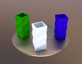 Modern vase model for 3D printing